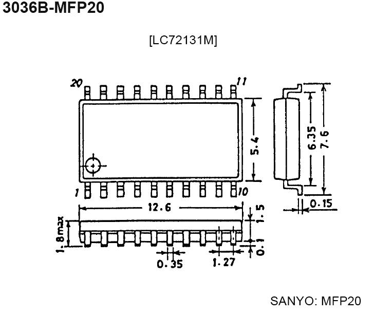 Микросхемы LC72131 и LC72131M являются синтезаторами частоты с применением PLL...