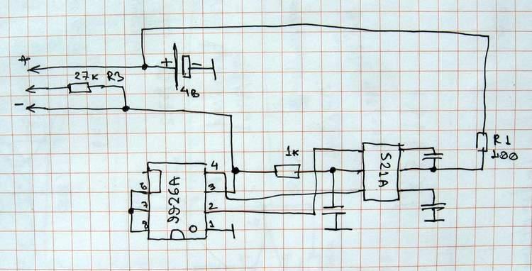 схема контроллера аккумулятора Siemens ME45